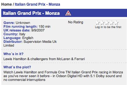 Odeon Formula 1